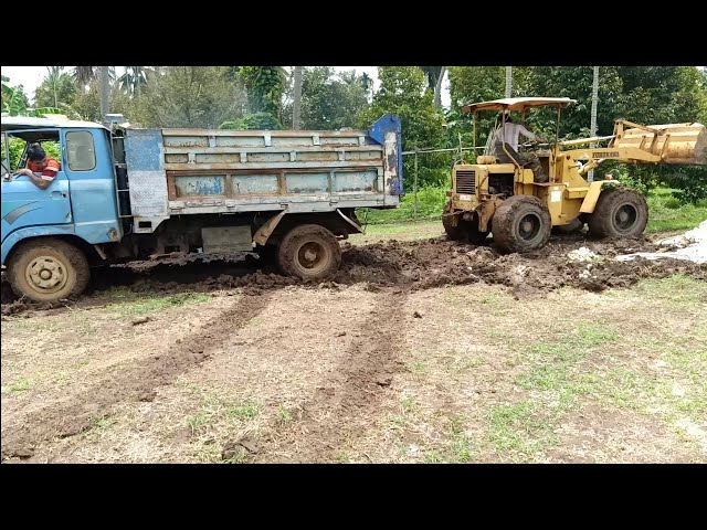 Trucks Stuck Recovery By Loader
