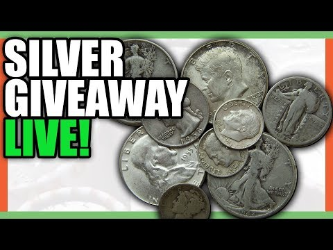 COIN ROLL HUNTING FOR SILVER - SILVER COINS GIVEAWAY LIVE STREAM!!!