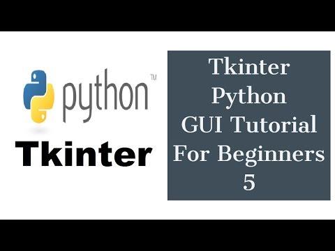 Tkinter Python GUI Tutorial For Beginners 5 - Entry Widget, ComboBox widget, Tkinter Image thumbnail
