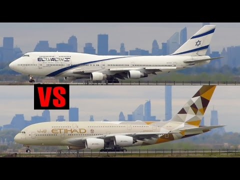 Boeing 747-400 vs Airbus A380-800