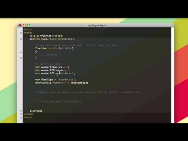 Learn to Code – Epilogue – Best Practices