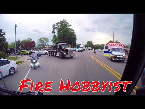 Rescue Responding Car Accident With City Fire Units [GoPro HD]