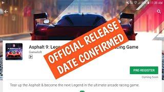 Asphalt 9 legend Official Release Date Confirmed by Gameloft