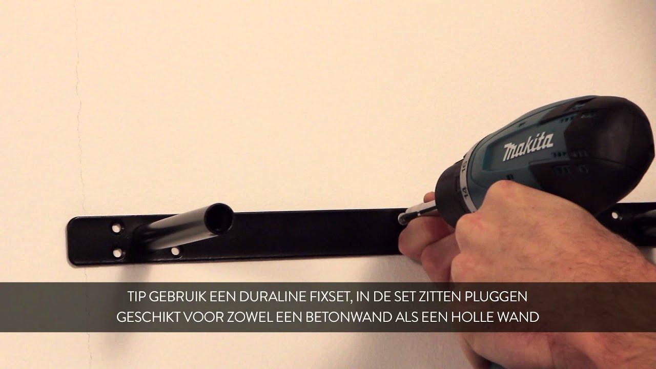 Wandplank Blinde Montage.How To Duraline Zwevende Wandplank Xl Paneel Monteren Nederlands