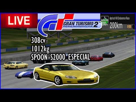 SPOON S2000 ESPECIAL em 200km de Apricot Hill Endurance - Gran Turismo 2 - AO VIVO thumbnail