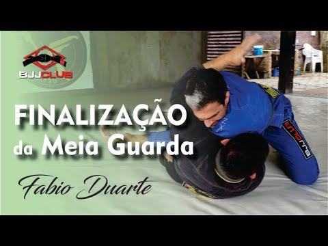 Estrangulamento da Meia Guarda - Fabio Duarte - Jiu Jitsu - BJJCLUB