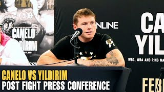 CANELO ALVAREZ VS AVNI YILDIRIM FULL POST FIGHT PRESS CONFERENCE (FULL VIDEO)