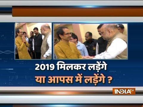 Amit Shah meets Uddhav Thackeray, Shiv Sena hints truce