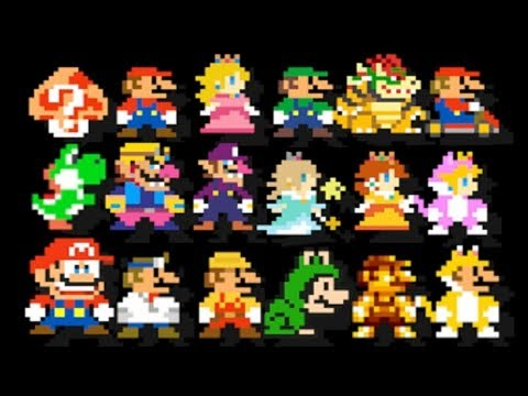 Super Mario Maker - All 153 Mario Costumes (Mystery Mushroom)