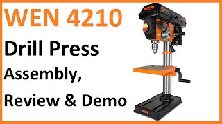 WEN 4210 Drill Press Assembly, Overview, and Quick Demo