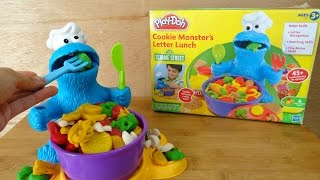 Play Doh Kids Toys Cookie Monster Letter Lunch クッキーモンスター 粘土 thumbnail
