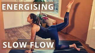 15 min SLOW YOGA FLOW for ENERGY