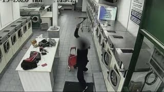 CAUGHT ON CAMERA:  Brazen assault at laundromat!