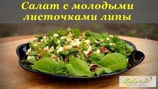 рецепт Весенний салат с липовых листочков и ореха