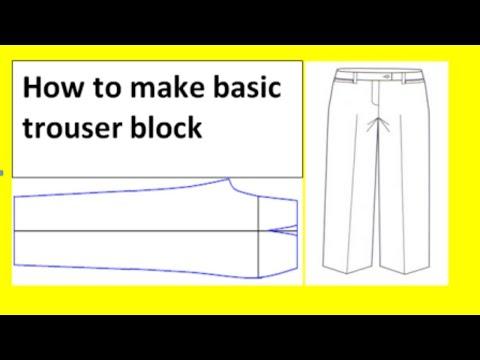 #Pattern Making ! How to Draft Trouser Pattern ! Pant Pattern Making