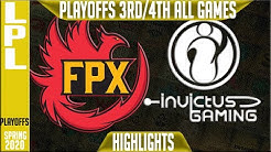 FPX vs IG Highlights ALL GAMES | LPL Spring 2020 3rd/4th Place | FunPlus Phoenix vs Invictus Gaming