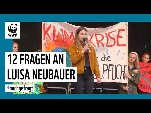 Was fordert Fridays for Future? 12 Fragen an Luisa Neubauer   #nachgefragt   WWF Deutschland