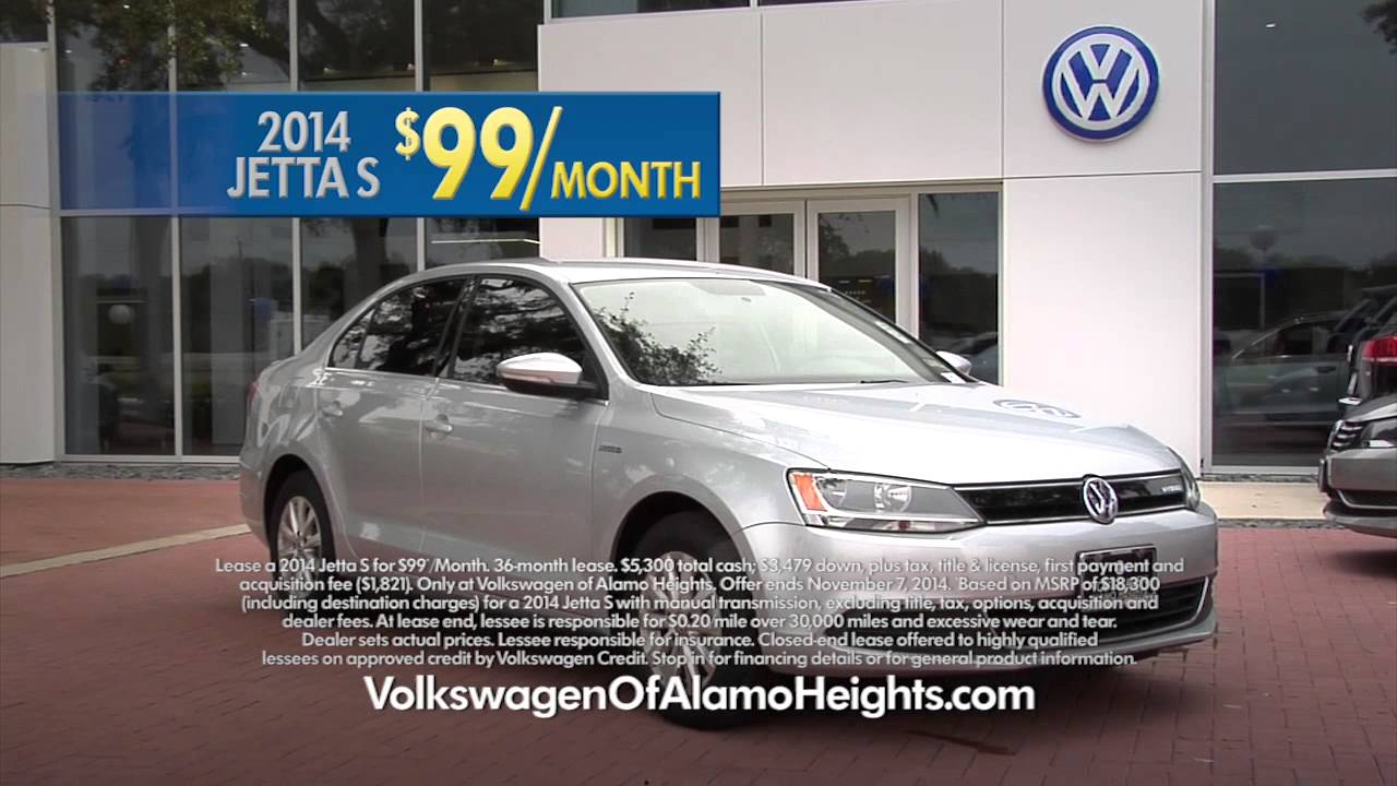 Lease A 2014 Jetta S For 99 Month Youtube