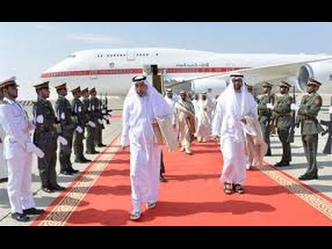 Prince of Abu Dhabi - Sheikh Mohammed Bin Zayed Al Nathan plane inside video