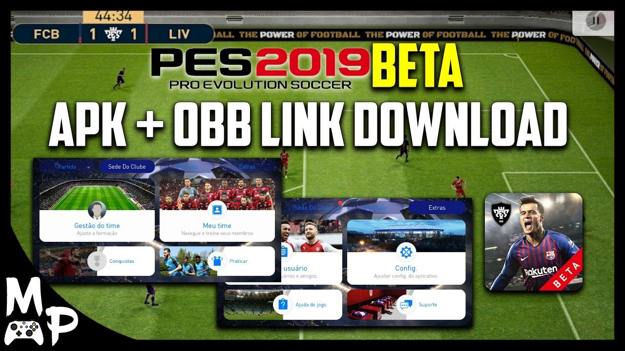 PES 2019 MOBILE BETA - APK + OBB LINK DOWNLOAD