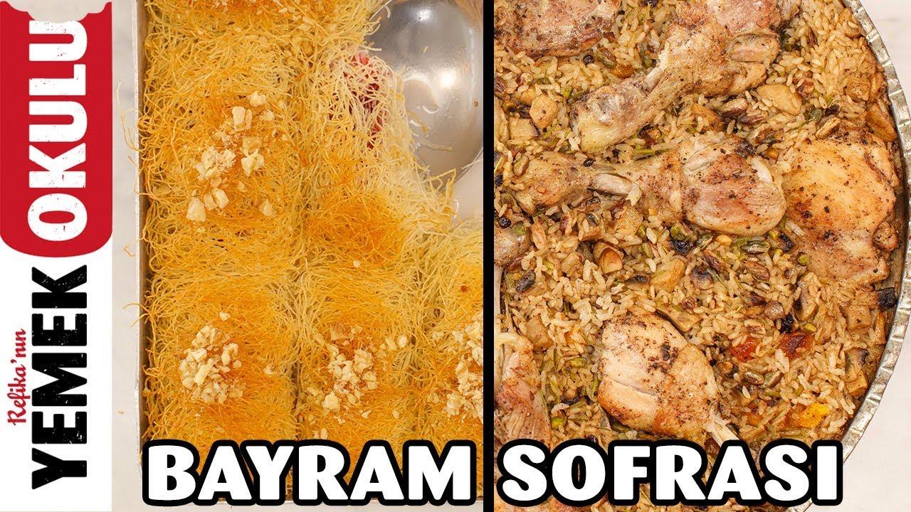 Bayram Sofrası; İç Pilavlı Tavuk Kapama Tarifi ve Sütlü Kadayıf Sarma Yapımı