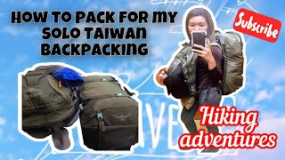 How Do I PACK LIGHT for my Backpacking in Taiwan