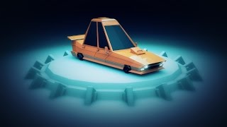 [Part 1] Low Poly Car Turntable - Cinema 4D