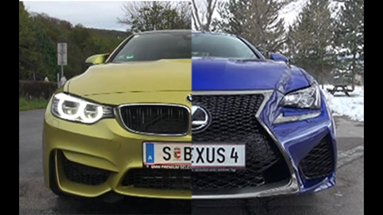 BMW M4 vs Lexus RC F - Sound Comparison - YouTube