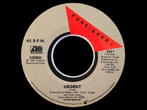 Foreigner ~ Urgent 1981 Extended Meow Mix