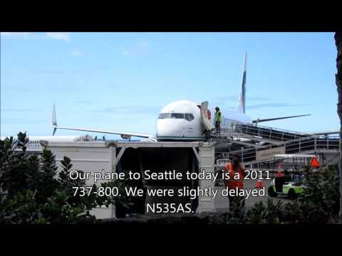 Alaska Airlines economy class, SEA-KOA Boeing 737-800 April 2016