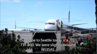 Alaska Airlines economy class, SEA-KOA Boeing 737-800 April 2016