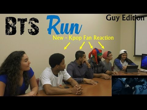 BTS - Run - NEW KPOP Fan Reactions - Guy Edition