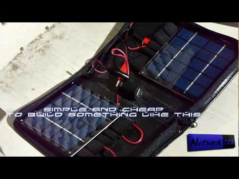 Surviving with a solar USB charger – (DIY)
