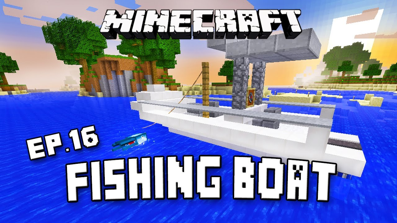 Minecraft Vehicle Tutorial How To Make A Fishing Boat Scarland