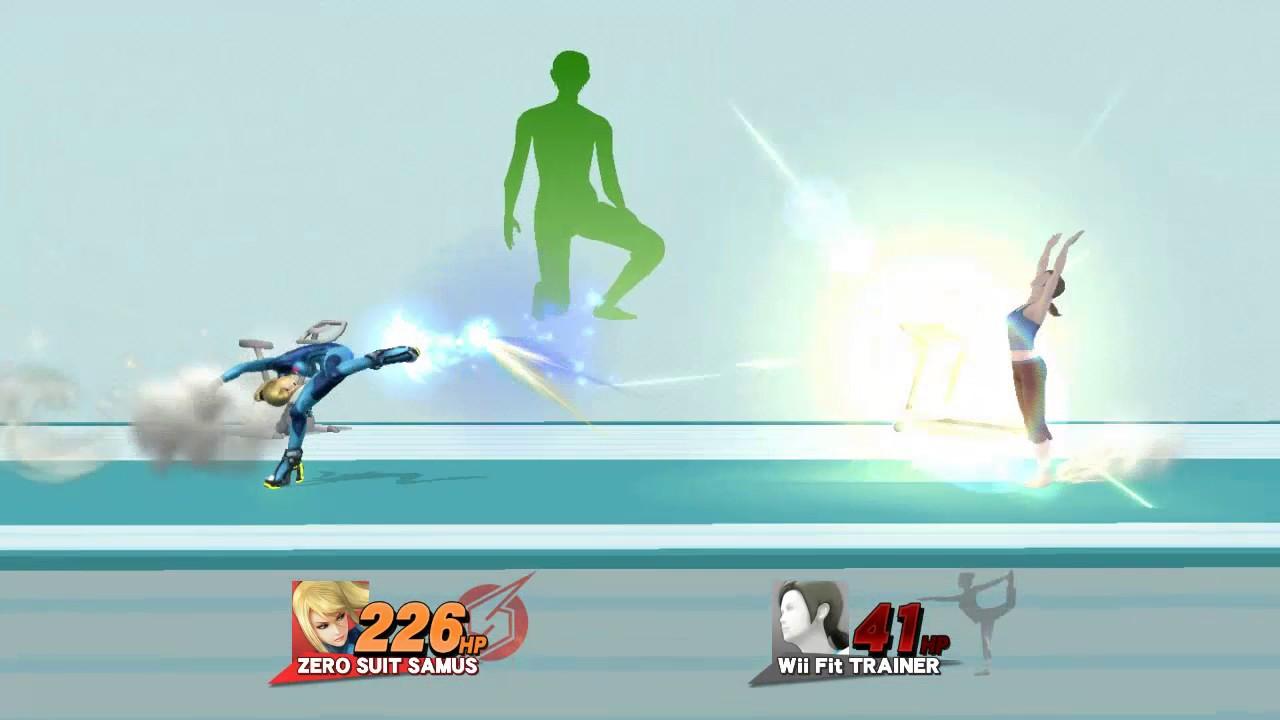 SSB4 - Zero Suit Samus VS Wii Fit Trainer Bloopers ...