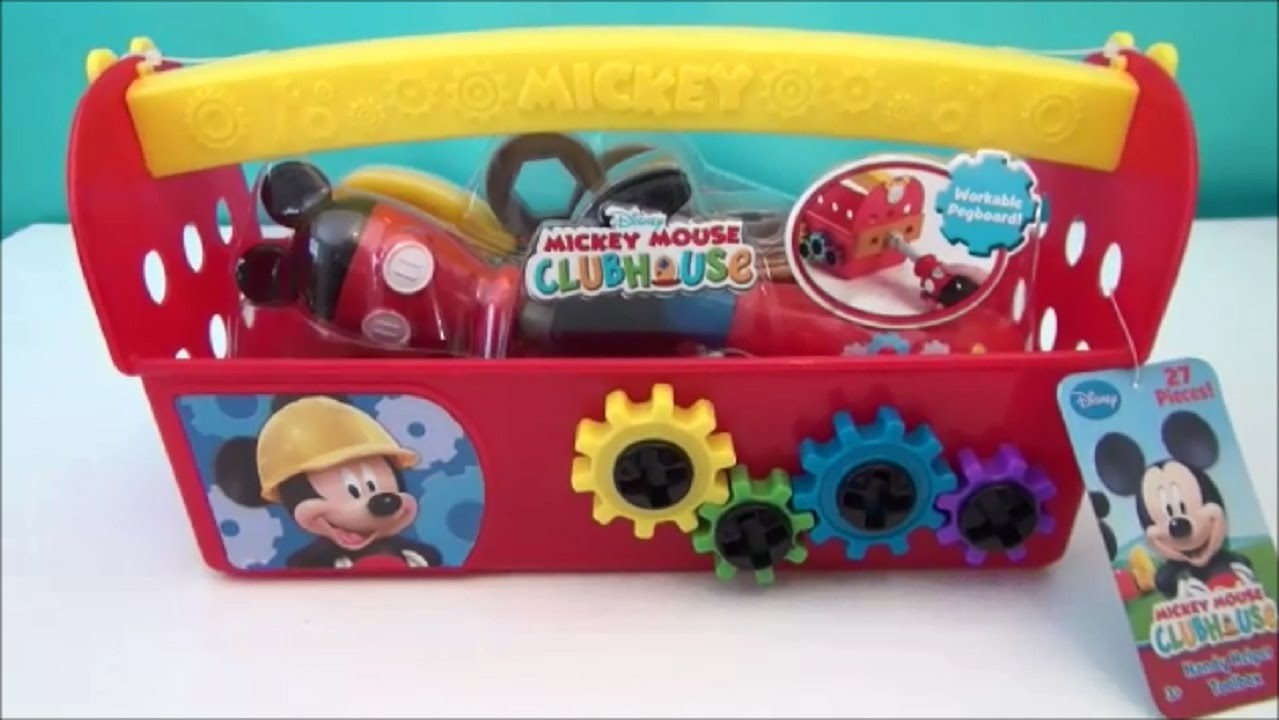 Mickey Mouse Clubhouse Handy Toolbox Playset Video Toy Review Youtube