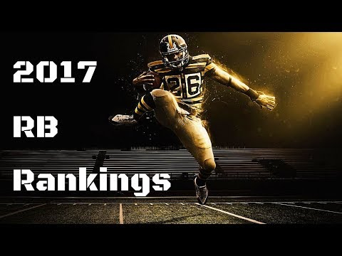 2017 Fantasy Football RB Rankings By Tier