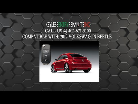 How To Replace Volkswagen Beetle Key Fob Battery 2012