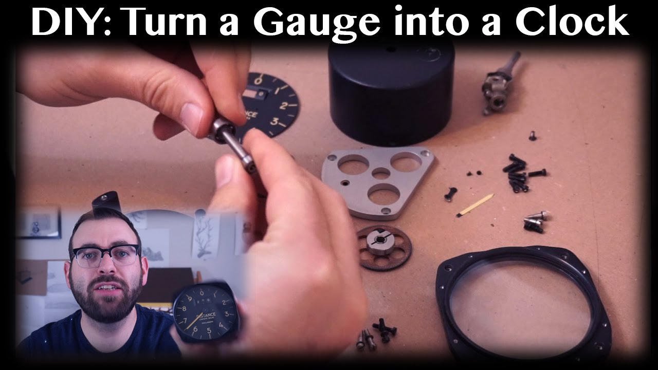 DIY Making A Clock From A Vintage Aircraft Instrument