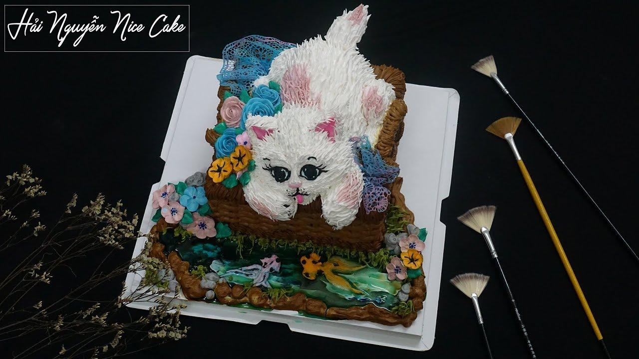 Bánh Sinh Nhật Tạo Hình Mèo Con Cực Dễ Thương – How to make Baby Cute Cat Cake
