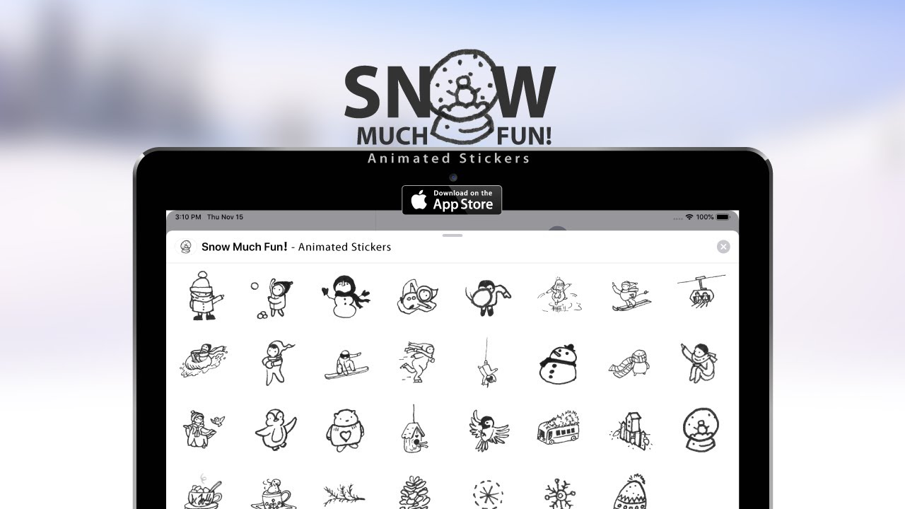 Download 'Snow Much Fun! - Animated Stickers' for iMessage