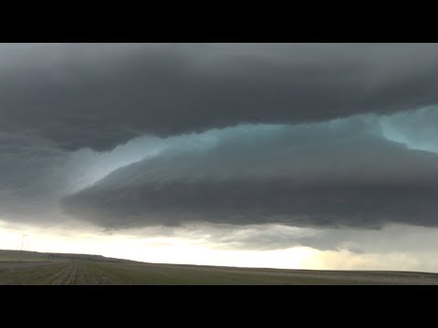 INSANE mothership supercell over the Nebraska Panhandle! Tornado damage north of Broadwater