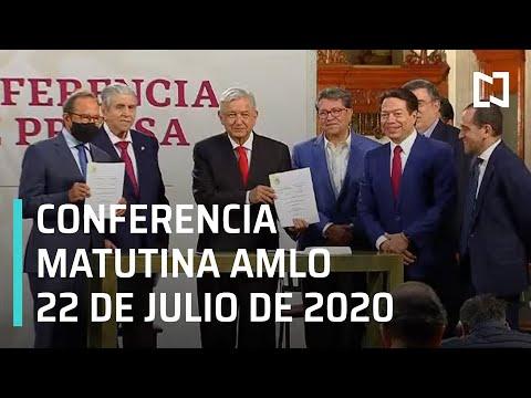 Conferencia matutina AMLO / 22 de julio de 2020