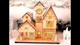 Laser Cut Wooden 3D Model European House - Boss Laser