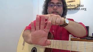 Three fingers Picado (A M I ) Learning Paco de Lucia´s technique /Ruben Diaz flamenco guitar lessons