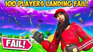 *100 PLAYERS* AT PLEASANT GOES WRONG!! - Fortnite Funny Fails and WTF Moments! #800