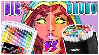 BIC Markers VS Ohuhu Brush Markers - Marker Review
