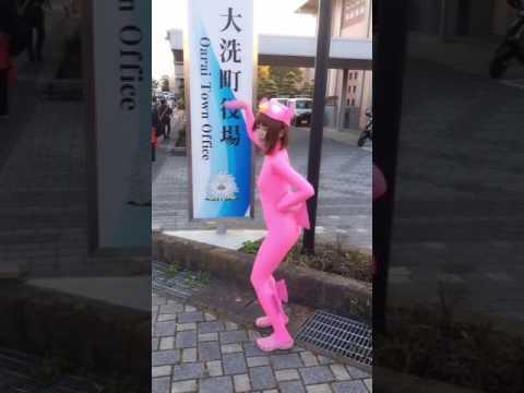 【大洗】あんこう祭りであんこうスーツを着てあんこう音頭を踊ってみた【ガルパン】