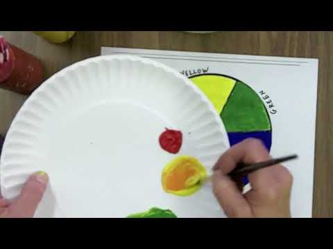Making a Primary and Secondary Color Wheel