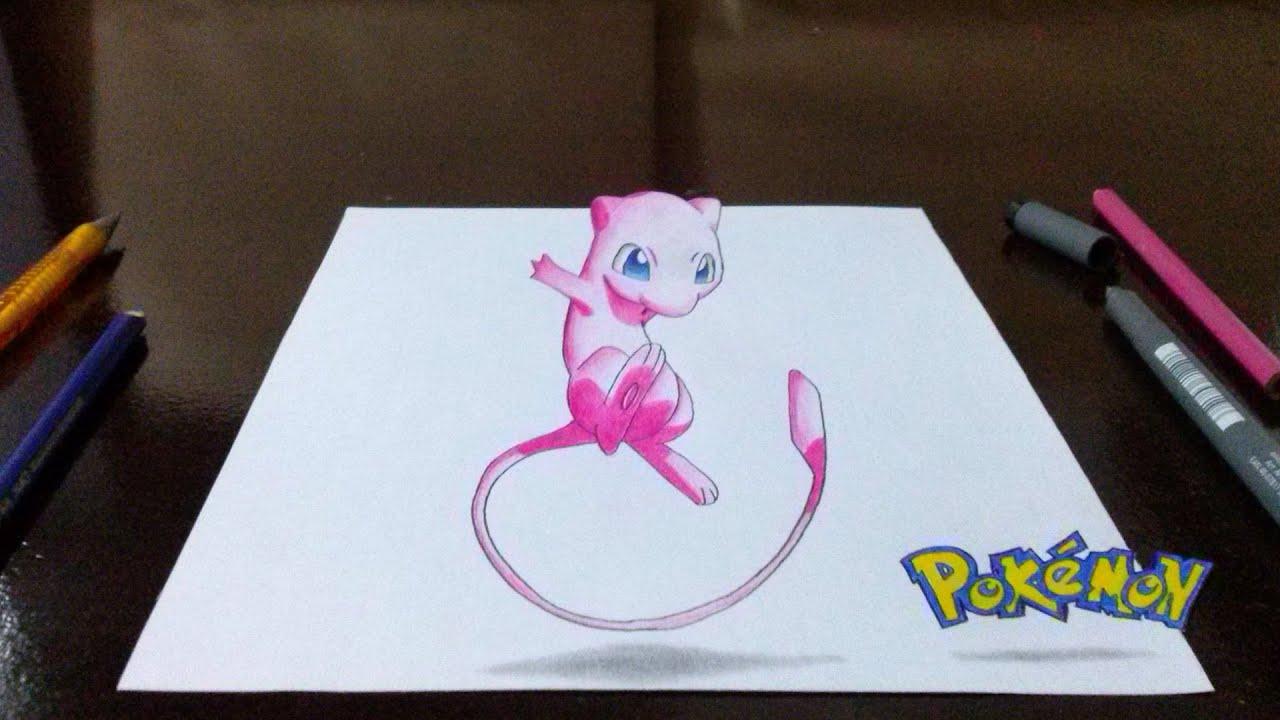 Desenhando Pokémon Mew em 3D - Top Rabiscos #1 - YouTube